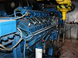 Б/У газовый двигатель MWM TBG 604-V-12, 1988 г. , 590 Квт - фото 2